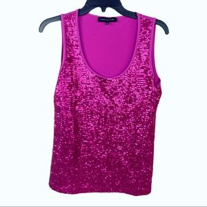 Jones New York Sequined Tank Top